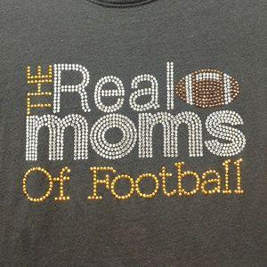 Bling football tee for moms!